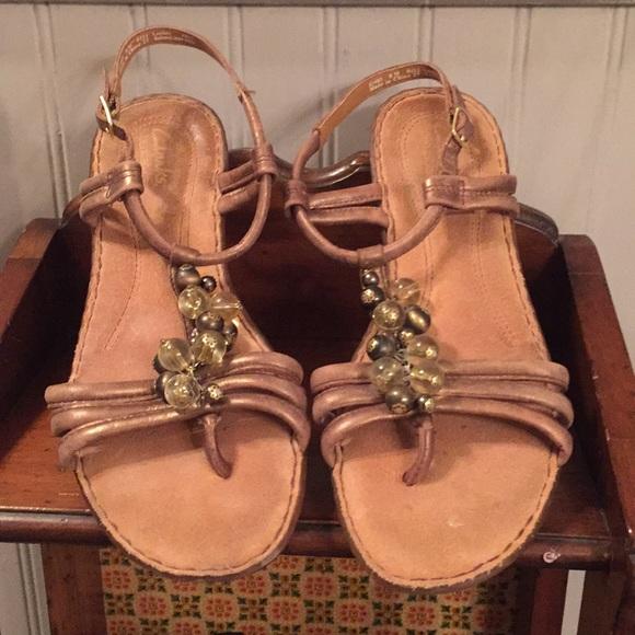clarks beaded sandals